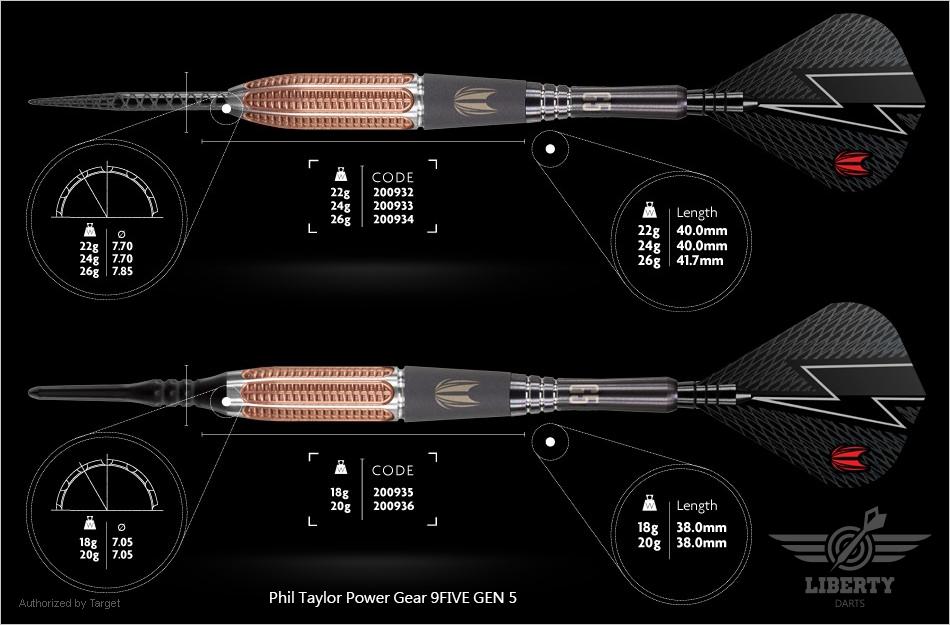 Phil Taylor Power Gear 9FIVE GEN 5